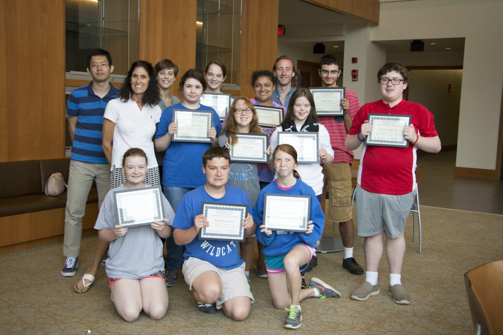 Summer Leadership Camp students with certificates
