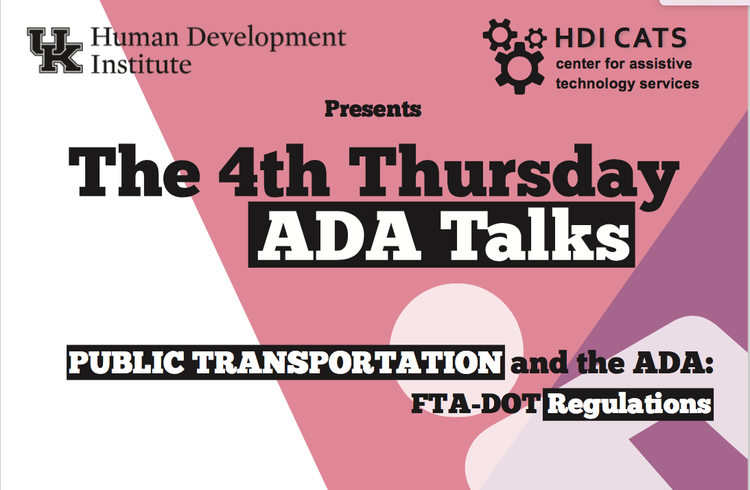 ADA Talks Flyer Image