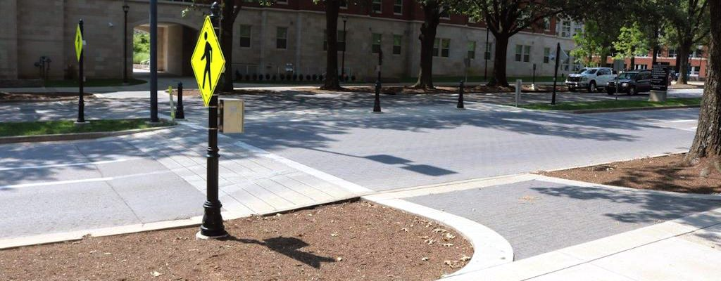Photo of a crosswalk built with universal design