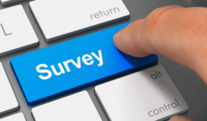 Survey key on a keyboard