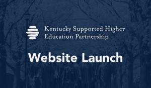 KSHEP Website Launch in white text on a dark blue background